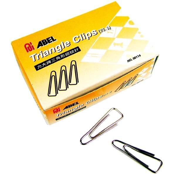 力大牌 ABEL 00114 小三角25.5mm迴紋針-10小盒入 / 盒