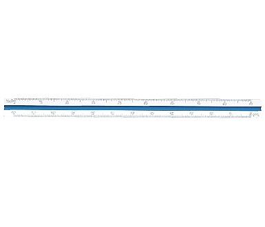 Tomato 三角 30cm 比例尺 製圖專用 軟盒 /支 4109-01