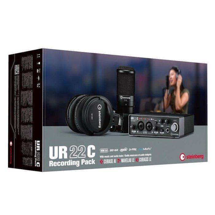 分期免運 YAMAHA Steinberg UR22C Recording Pack 錄音套裝組合【唐尼樂器】