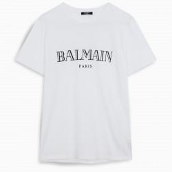 Balmain White logoed t-shirt