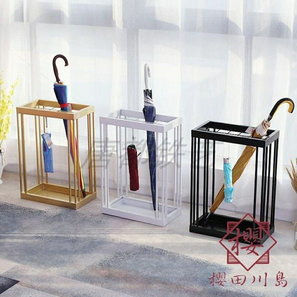 居家落地雨傘瀝水架家用門口雨傘收納架【櫻田川島】