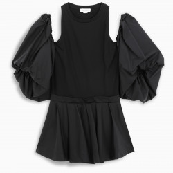 Alexander McQueen Black off the shoulder t-shirt