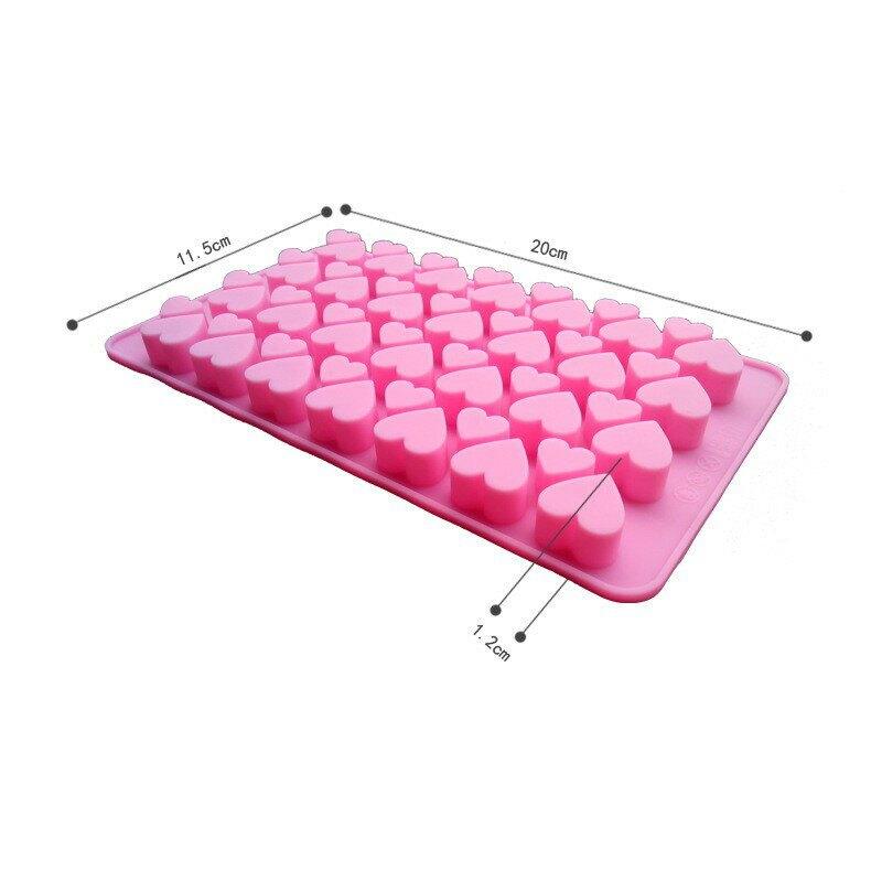 【嚴選&現貨】55連/56連心形矽膠模 軟糖模 巧克力模 矽膠模 翻糖模 糖果模 手工皂模 心形模 心型模 烘焙工具