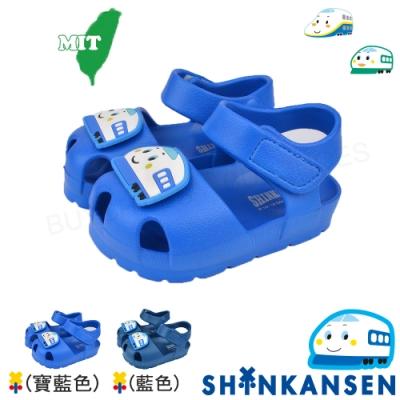 SANRIO三麗鷗新幹線 童鞋 防水極輕量吸震休閒涼鞋-寶藍.藍