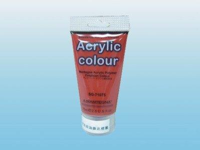 618購物節【萬事捷】4600-34 SG-703 壓克力水彩顏料(威尼斯紅) (12瓶/盒)