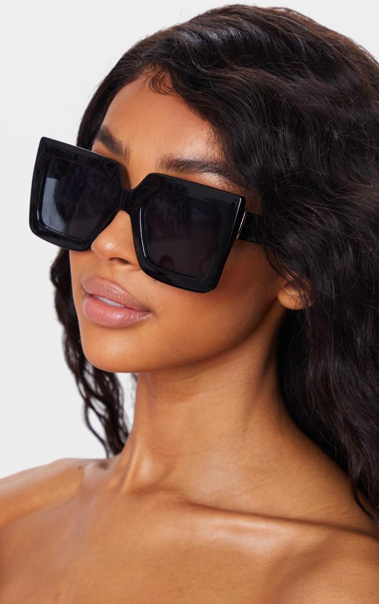 Black Square Oversized Frame Sunglasses