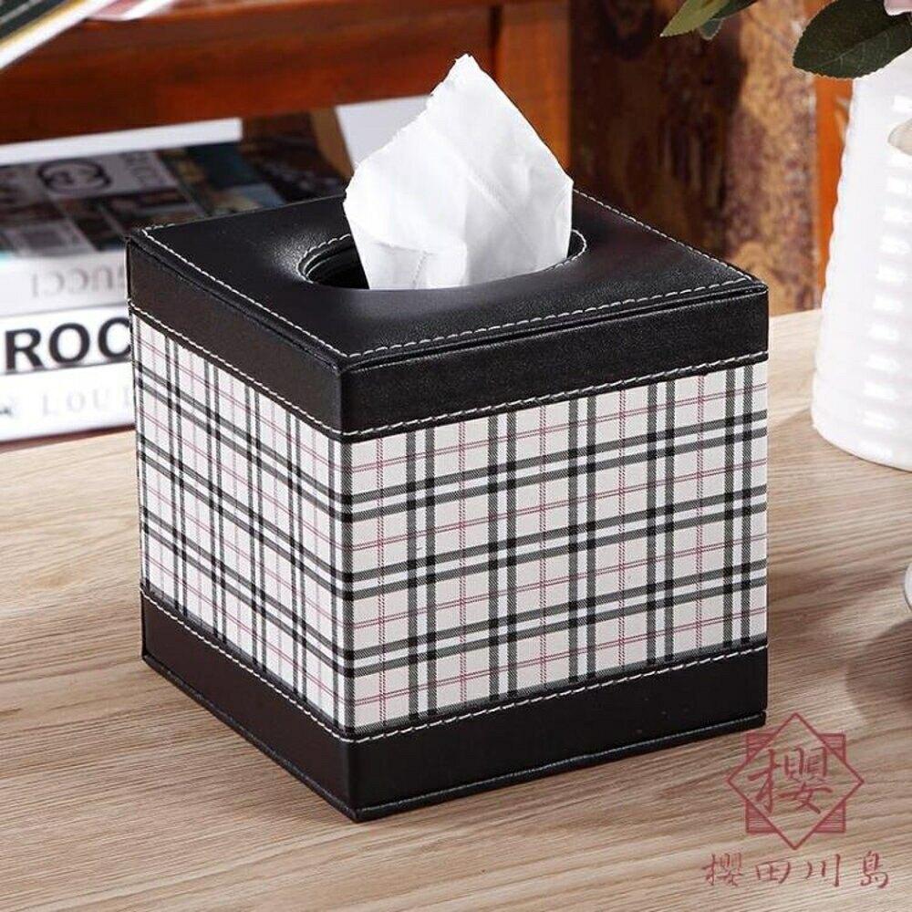 卷紙筒客廳紙巾盒桌面圓筒抽紙盒餐巾紙抽盒【櫻田川島】