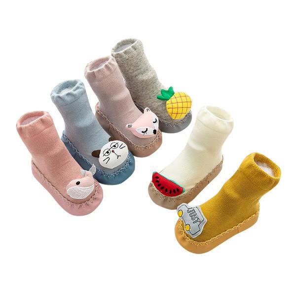 寶寶學步鞋 動物頭卡通地板短襪皮底襪 雪倫小舖【HC2085】