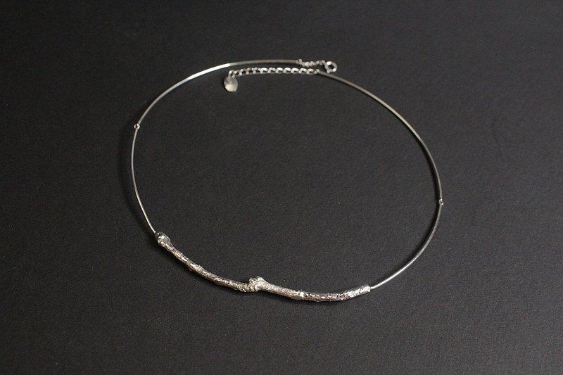 羅馬 桂花枝頸環 純銀手工項鍊