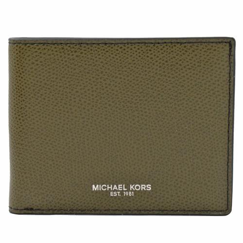 MICHAEL KORS WARREN 經典LOGO簡易式中短夾.橄欖綠