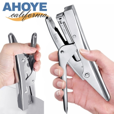 Ahoye 24/6不鏽鋼手握鉗式省力釘書機 訂書機
