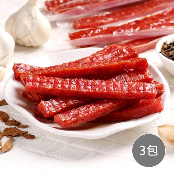 【愛上美味】招牌蒜香豬肉條3包組(100g±5%/8條±2條)