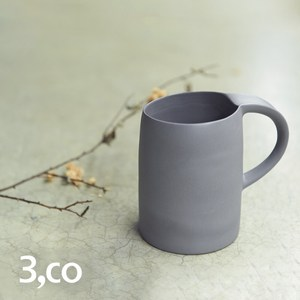 【3 co】水波馬克杯 - 灰