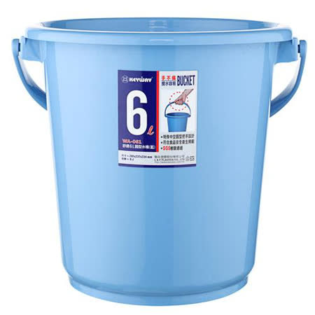 KEYWAY舒適圓型水桶WA-061-藍(6L)