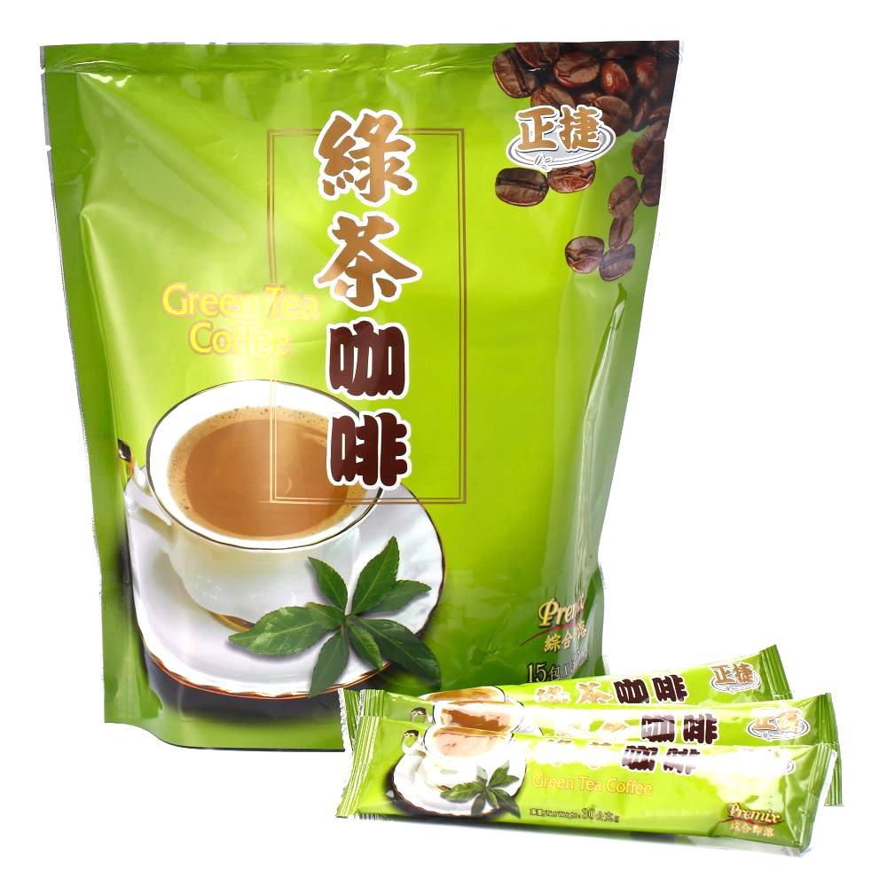 【正捷】綠茶咖啡x4包(30gx15入/包)也是抹茶咖啡讓您一次擁有兩種享受