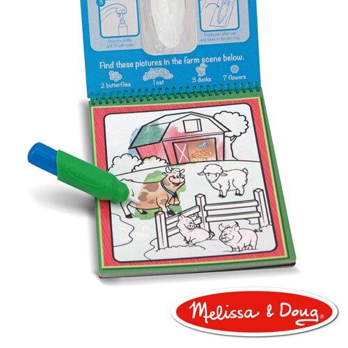 《美國 Melissa & Doug》 美勞 旅遊樂 水畫冊 可愛動物 東喬精品百貨