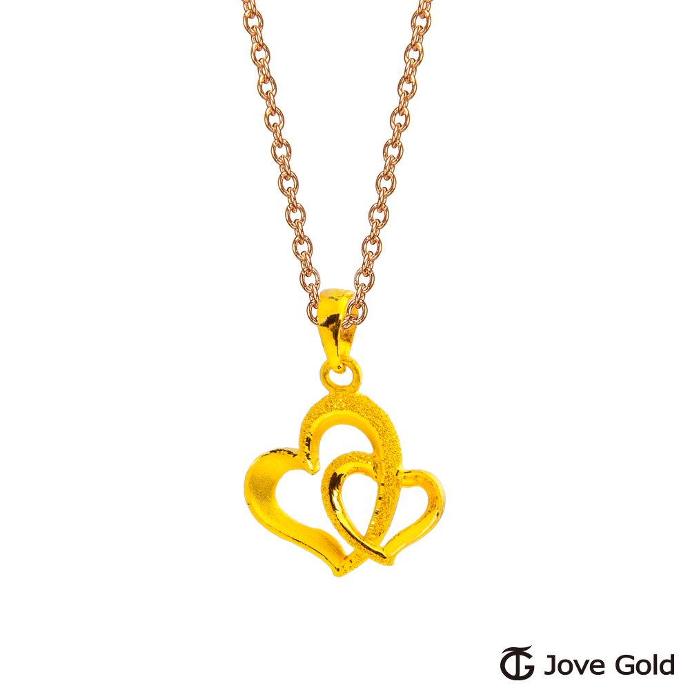 Jove Gold 漾金飾 命中注定黃金墜子 送項鍊