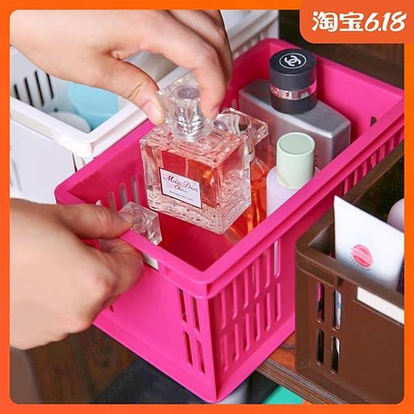尺寸超過45公分請下宅配日本進口塑料桌面收納盒創意小物收納筐CD筐MD收納盒化妝品整理框
