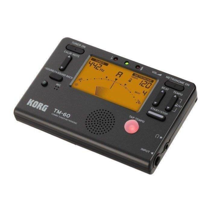 日本 KORG TM-60 全功能冷光調音/節拍器 薩克斯風 長笛 豎笛 任何樂器適用【唐尼樂器】
