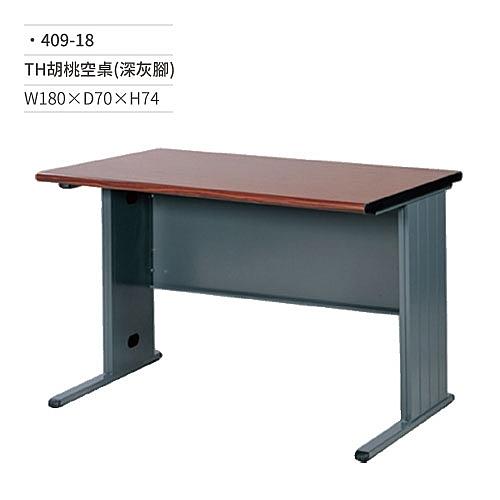 TH胡桃空桌/辦公桌(無抽屜/深灰腳)409-18 W180×D70×H74