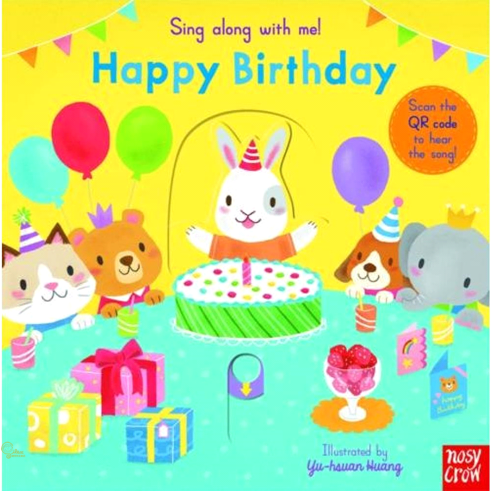 Sing Along With Me Happy Birthday (硬頁推拉書)(英國版)【禮筑外文書店】[61折]