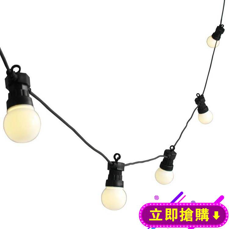 LED戶外彩燈串燈露臺防水掛燈小燈泡庭院裝飾燈求婚佈置創意用品 下殺優惠