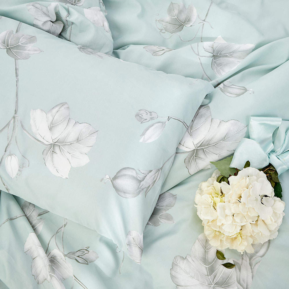 床包被套組(薄被套)-單人 / 奧地利天絲三件式 / 淺青花語 台灣製