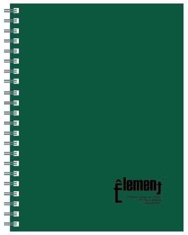 618購物節【美加美】文具紙品-18K←PP活頁筆記(95張)-綠AD6011/8本入