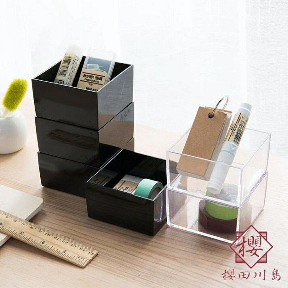化妝品首飾收納盒抽屜分類透明收納整理盒【櫻田川島】