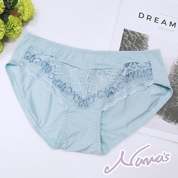 【露娜斯】羅曼花燦。M-XL蕾絲三角內褲【水藍】台灣製P8889