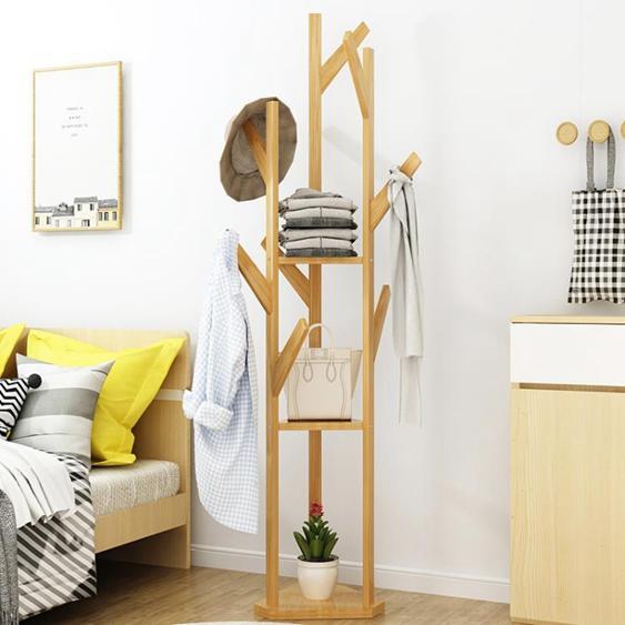 簡約家用臥室經濟型衣服架子落地掛衣架簡易創意三角式包架衣帽架HRYC
