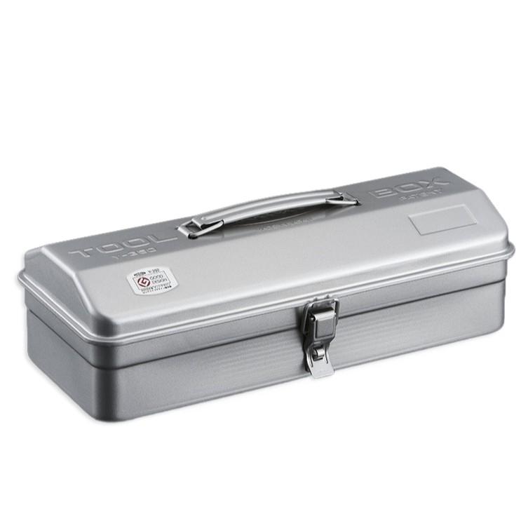 TOYO Y-350 提把山型工具箱 36公分 銀色 零件箱 日本製 日本製 鐵箱【露戰隊】