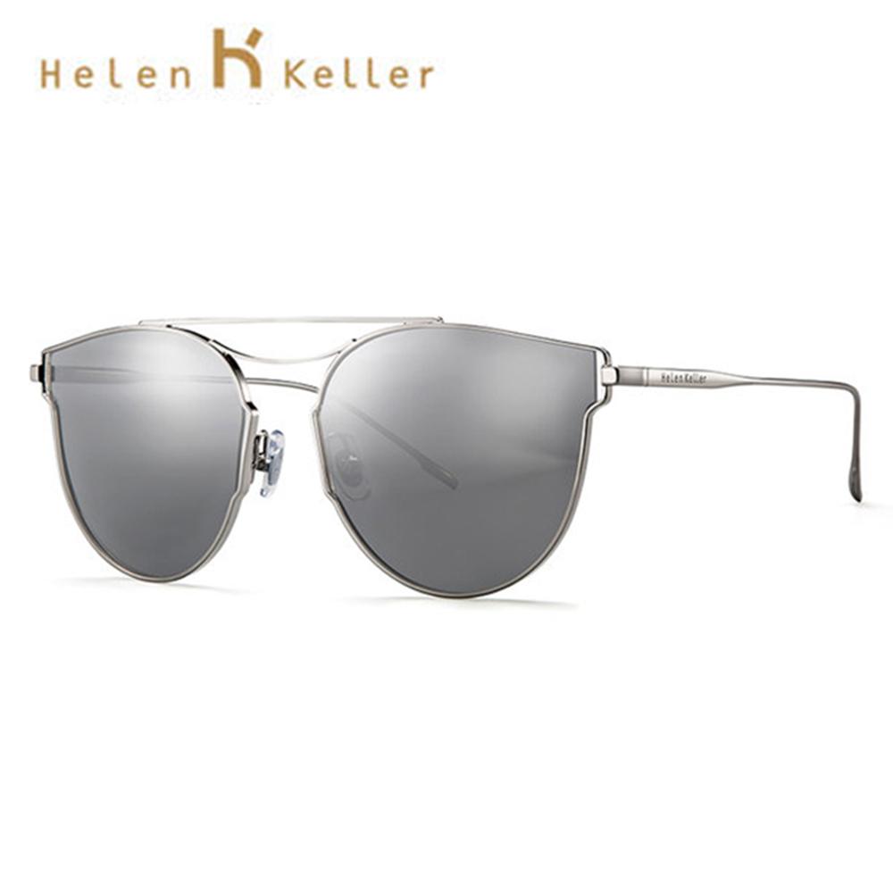 Helen Keller 時尚偏光墨鏡 簍空多邊框 抗紫外線 H8631