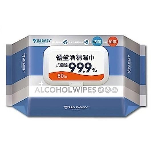 優生 超厚型酒精抗菌99.9濕巾 (80抽/包)【杏一】