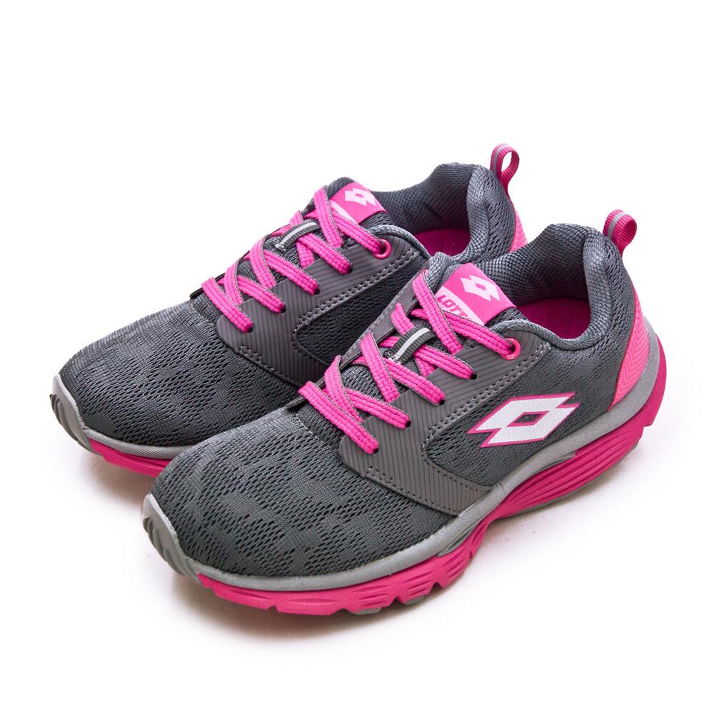 lotto雙密度輕量美體健步鞋 easy walk 系列 灰桃紅 0678 女