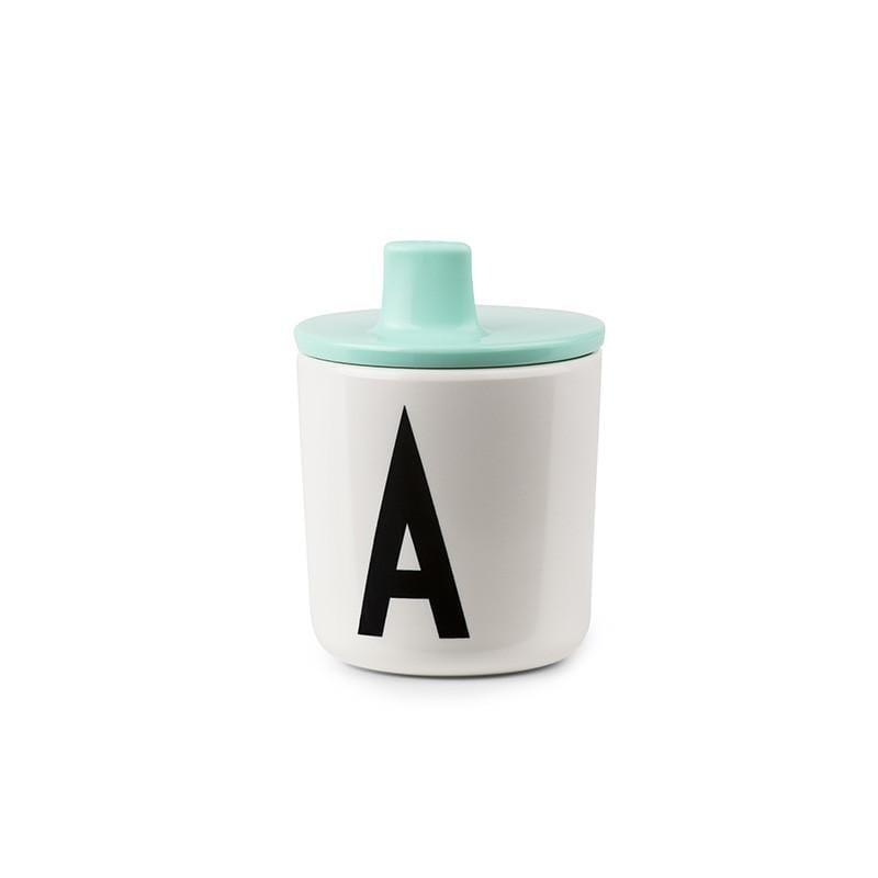 兒童字母杯+吸口上蓋 字母杯R / 粉紅色