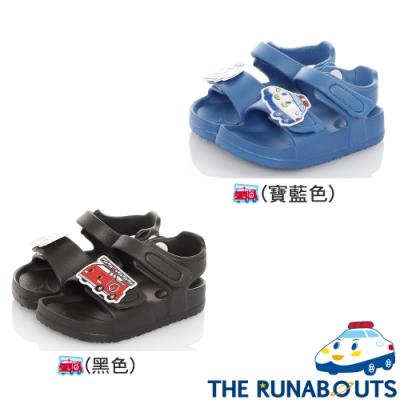 三麗鷗The Runabouts童鞋 極輕量腳床型涼鞋-寶藍.黑