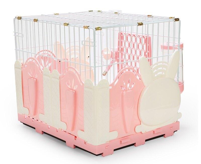 愛思沛 鐵網小兔籠(兔造型圍片) 台製全配兔籠 精緻室內籠