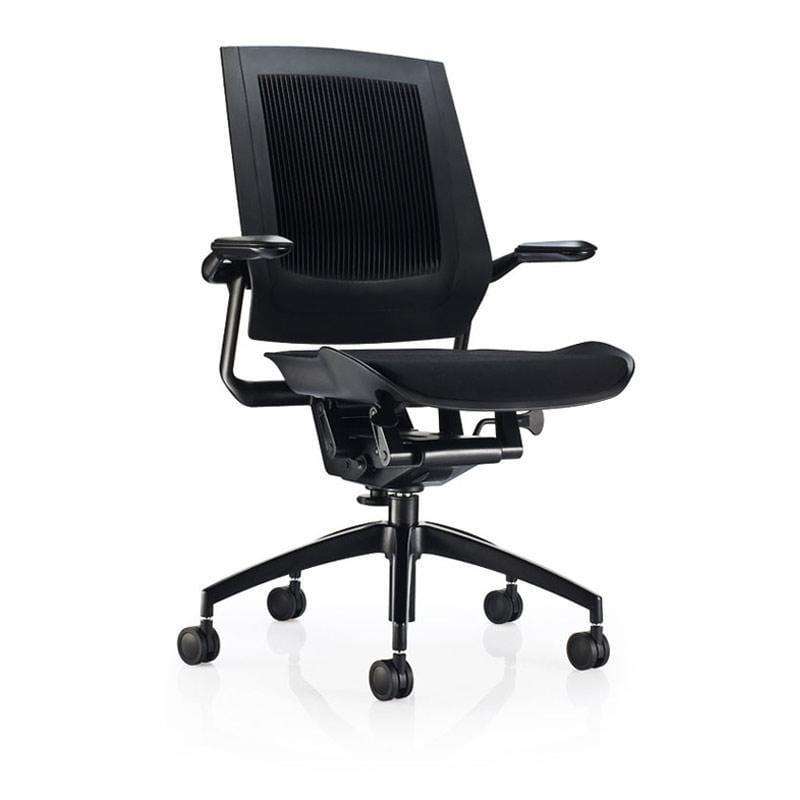 獨家專利 ABT 彈性椅背 Bodyflex 椅 - 全黑款 獨家專利 ABT 彈性椅背 Bodyflex 椅 - 黑