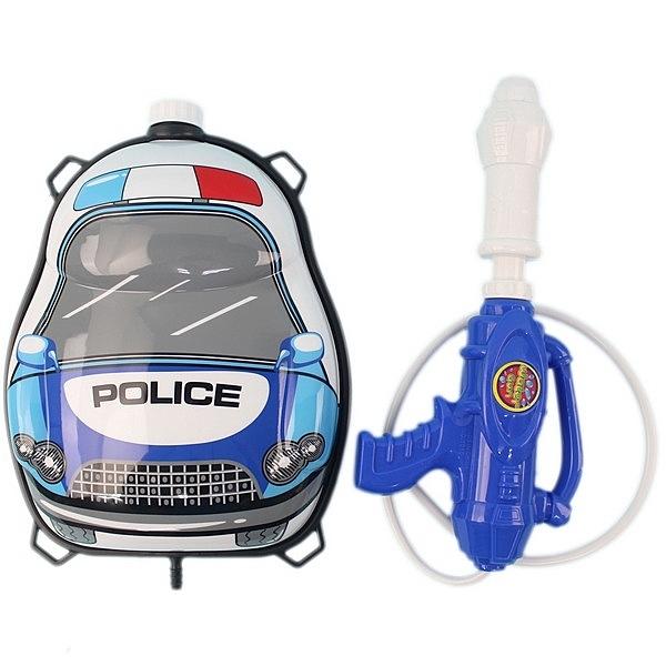 警車背包水槍 後背式水槍 槍長34cm/一個入(促299) 兒童背包式水槍 加壓水槍-生1010-27(K3206)
