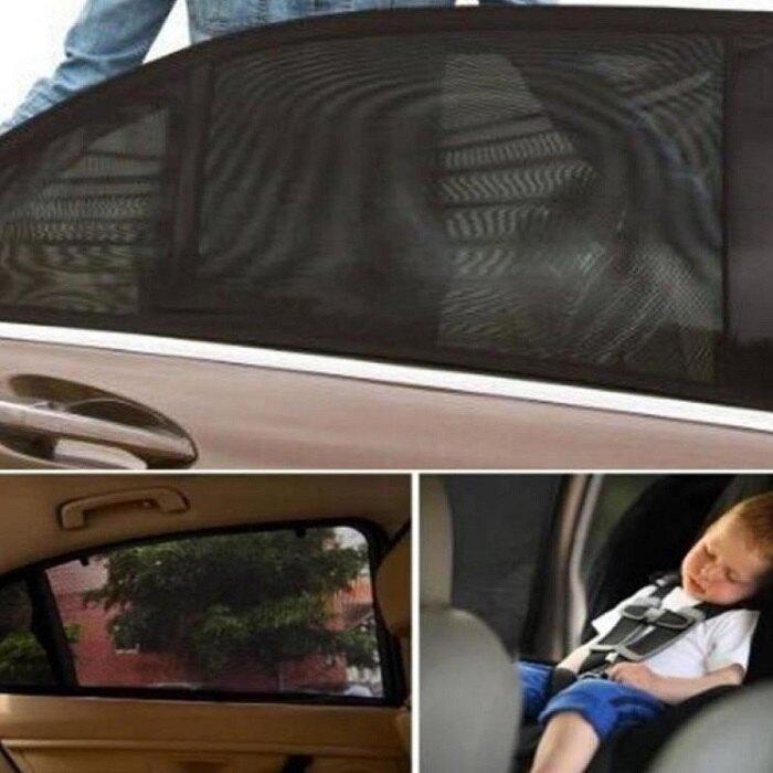 汽車車窗罩【NT022】汽車防蚊蟲遮陽窗罩2入 車用隔熱貼 防蚊罩 遮陽 側檔 防曬 玻璃隔熱