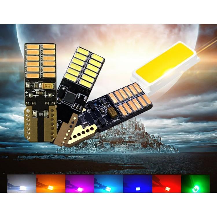 t10 4014台灣保固3個月 防水 led 24晶片 超亮 t10車燈 牌照燈 閱讀燈 方向燈