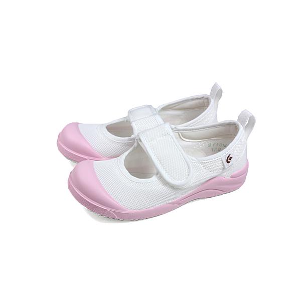 Moonstar 室內鞋 白/粉紅 中童 童鞋 MSCN024 no347