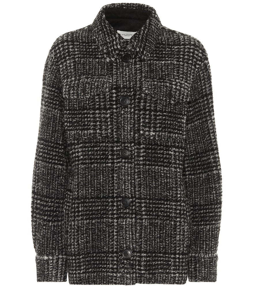 Gastoni checked wool-blend jacket