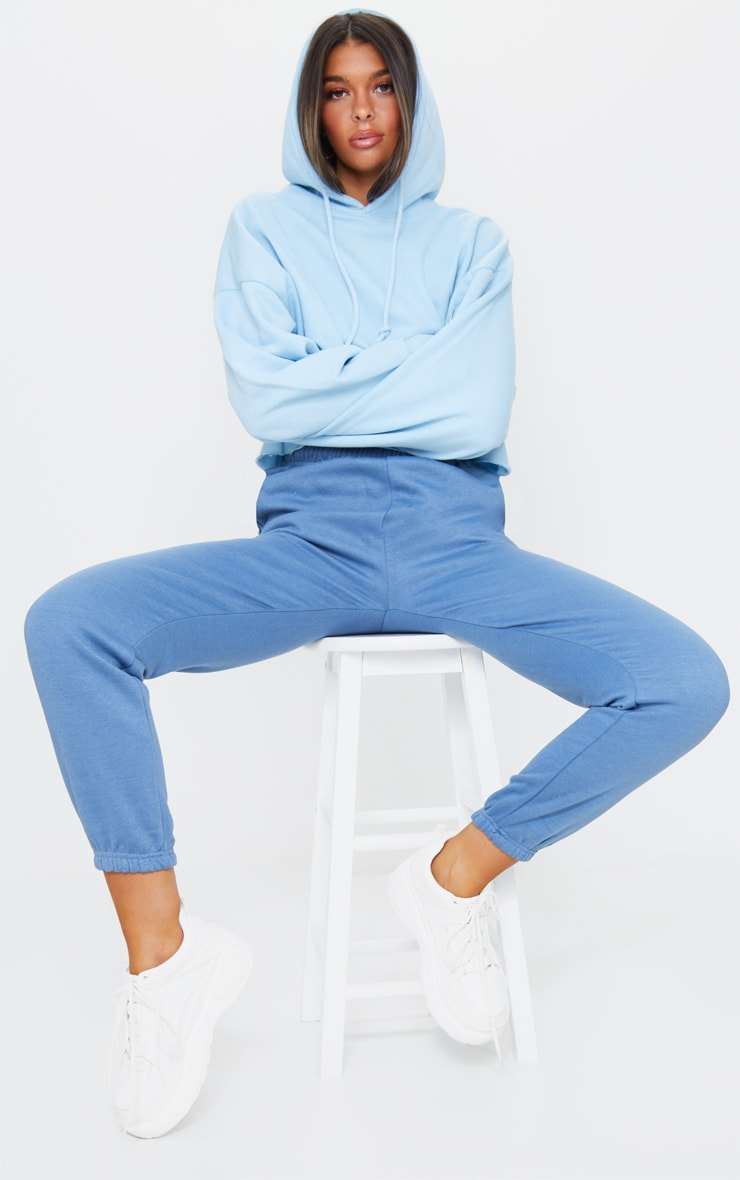 Dusty Blue Sweat Pant Track Pants