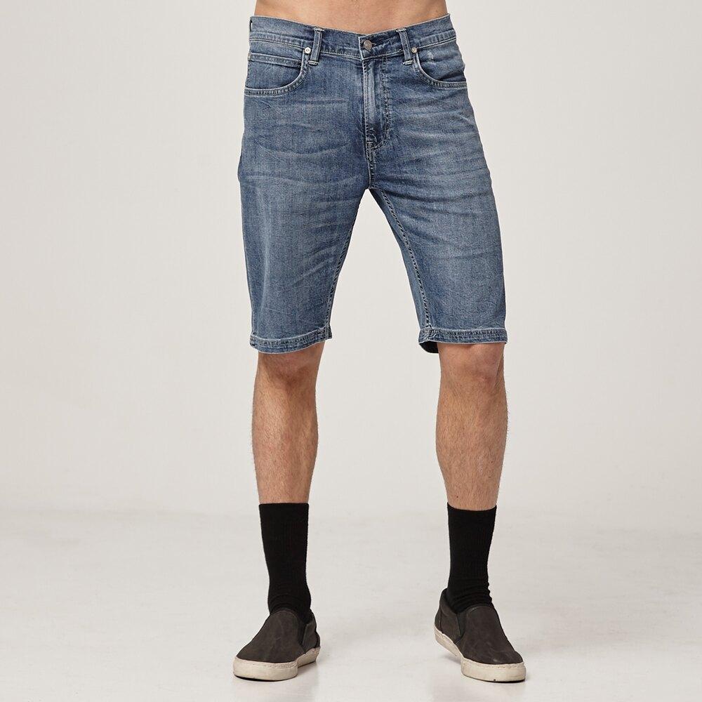 低溫特報 Lee 牛仔短褲 902 舒適 男 中淺藍 彈性