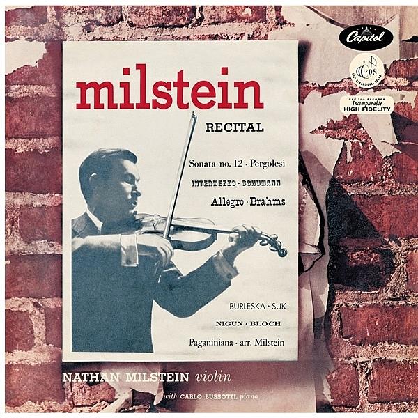 【停看聽音響唱片】【黑膠LP】米爾斯坦獨奏會 / 米爾斯坦(小提琴)、卡洛.布梭堤(鋼琴) (180g LP)