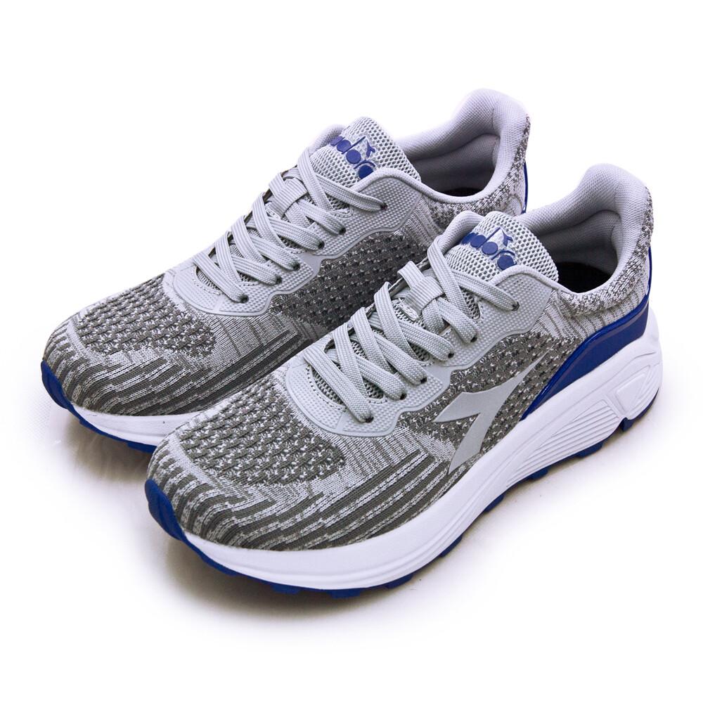 diadora迪亞多那 厚底飛織寬楦慢跑鞋 銀河漫步系列 灰藍 71116 男