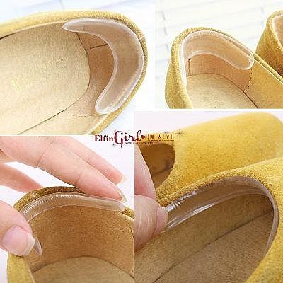 【Q80A77】魔衣子-矽膠隱形透明防滑防磨腳鞋後跟貼