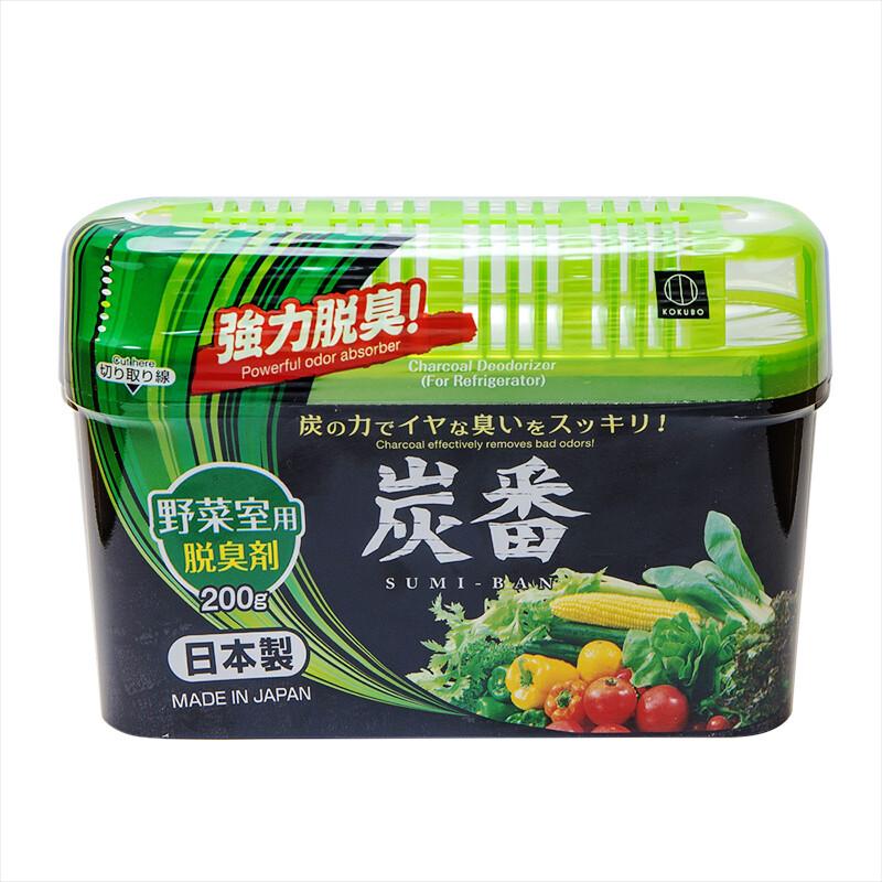 日本小久保kokubo炭番 冰箱蔬果室用除臭劑200g